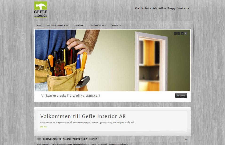 Gefle Interiör hemsida